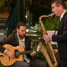 Saxophone player with Gypsy Jazz Band in Amalfi