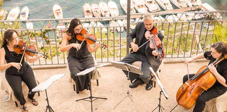 String quartet in Amalfi